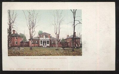 Virginia Va James River Newport News Postcard Old Vintage Card View