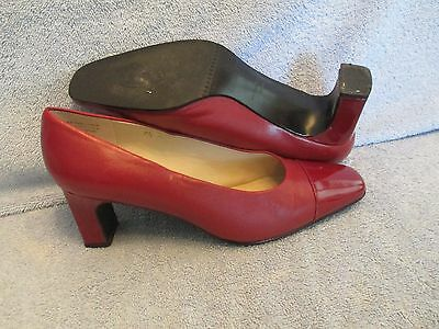 Womens Shoes ETIENNE AIGNER Size 7 1/2 M RED PUMPS EXC