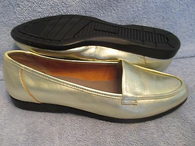Womens Shoes RED CROSS TAMMY Size 7 M GOLD LEATHER FLATS LN