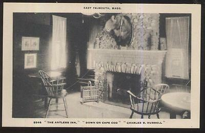 Postcard Cape Cod Ma/massachusetts Antlers Fireplace With Moose Head 1910's