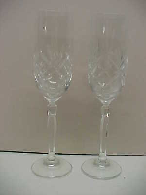 """Imperial Crystal CRISS CROSS CUT 2 Champagne 9"""" H LN"""