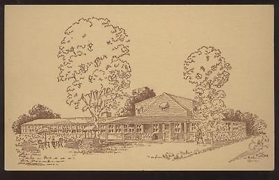 Postcard Southbury CT Old Hundred Inn view 1930's
