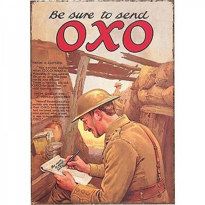 Be Sure To Send Oxo Tinplate Metal Plaque Wall Art Sign