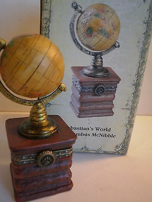 Boyds Bears Sebastian's World w/ Columbus McNibble Globe Small World 392168