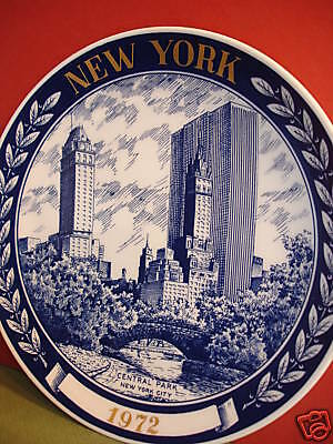 1972 Central Park NEW YORK CITY Collectors PLATE Number