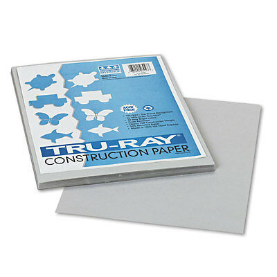 Pacon Tru-Ray Construction Paper,  9 x 12, Gray, 50 Sheets/Pack, PK - PAC103027