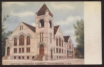 Postcard HUNTINGTON,Indiana/IN   Central Christian Church view 1907?