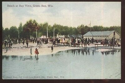 Postcard GREEN BAY Wisconsin/WI  Bay View Amusement Park #1 view 1907?