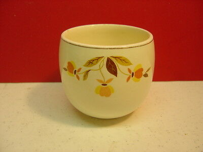 Hall China AUTUMN LEAF Condiment Jam/Jelly/Marmalade Jar (No Lid or Underplate)