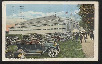 Postcard Hagerstown Maryland Md Fair Grounds Poultry Hall on Pangborn Hagerstown Md