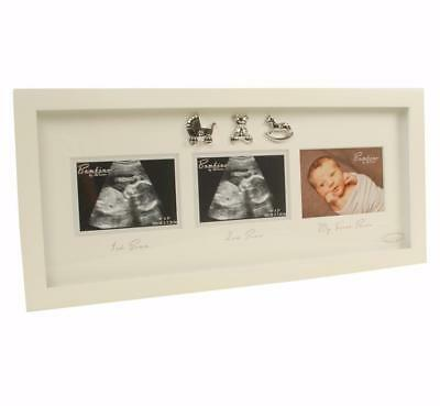 Triple Baby Scan Photo Frame Gift With 3D Icons CG446