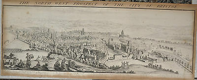THE NORTH WEST PROSPECT OF THE CITY OF BRISTOL etching  ORIGINAL SAMUEL BUCK