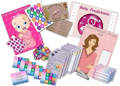 Baby Shower Party Game  -  6 GAMES  -  PINK/GIRL  -  up to 20 players  FREE P&P