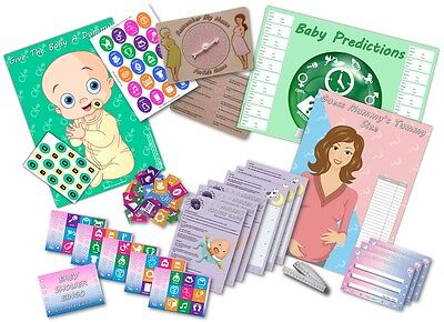 Baby Shower Party Games  -  6 GAMES  -  UNISEX  -  up to 20 players -  FREE P&P