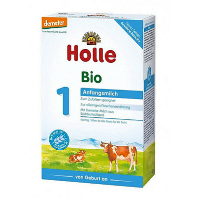HOLLE First Infant Milk Stage 1 Organic Baby Formula 4 Boxes x 400g (14.1oz)