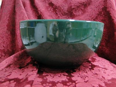 """Ralph Lauren Solid Green Stoneware, Italy: Salad Serving Bowl, 10"""" x 5"""" Tall"""
