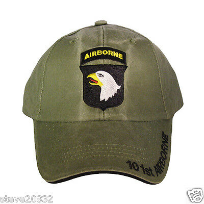NEW U.S. Army 101st Airborne Division Baseball cap hat. OD Green