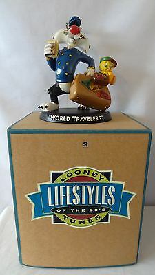 Warner Brothers 1994 Sylvester and Tweety Bird World Travelers Statue MIB #G328