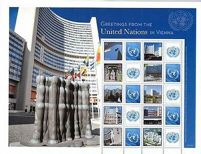 2015 ~ United Nations Personalized Sheet Vienna ~Greetings From Un Vienna