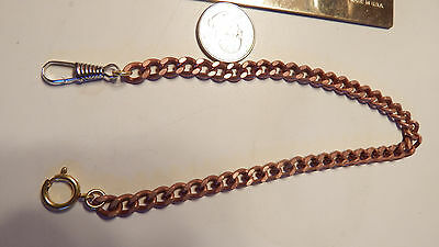 1  Vtg Copper Coated 12-13 Inch  Pocket Watch Chains Look