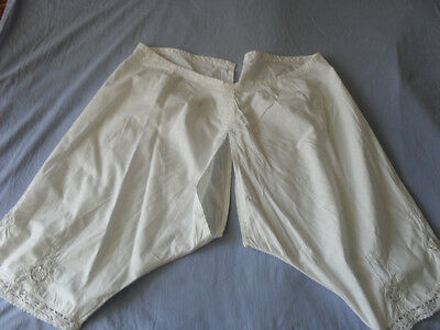 Lovely Vintage Pants With Handmade Lace