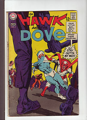 Hawk and the Dove #4 G+ 1969 DC Comic