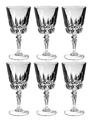 Cris D'Arques Durand Chantelle Wine Glasses Lot of 6