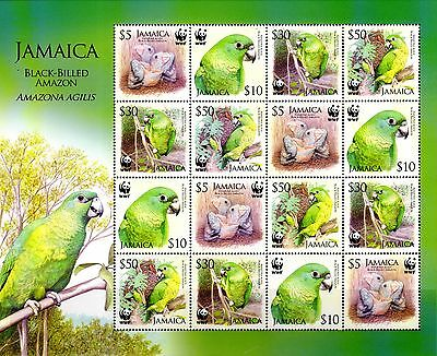 Jamaica 2006 Parrots Sheet 16 (4 Sets) MNH