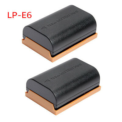 2XLithium-ion Battery For Canon LP-E6 LPE6  EOS 60D 7D 5D Mark II MK 2 Camera UK