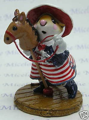 CLIPPITY-CLOP by Wee Forest Folk, WFF# M-290a,  Limited Edition PATRIOTIC 2009