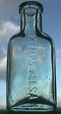 Small sample KEMPS BALSAM quack patent medicine bottle - Hand Blown from 1880's