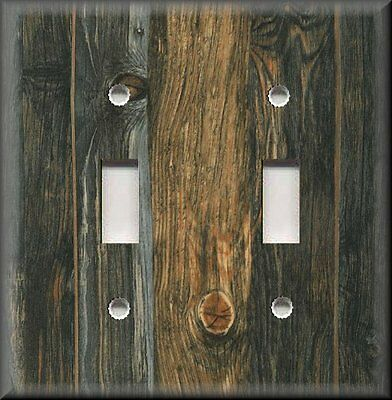 Metal Light Switch Plate Cover - Image Of Rustic Wood Knotty Wood Home Decor