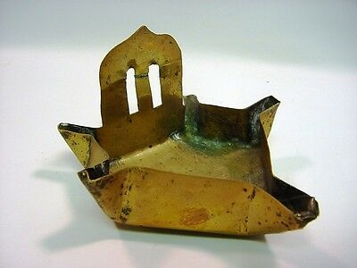 Early/Mid 1700's Dutch Thick Brass Sheet 5-Wick Whale Oil Lamp