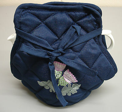 Wholesale 6 Scottish Thistle Embroidered Quilted Padded Kitchen Dining Tea Cosy