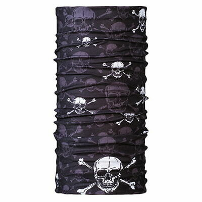 Original Buff Headwear Neck Tube Scarf Black Skull & Crossbones