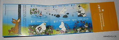 MINT MOOMIN STAMP BOOKLET SUMMER IN MOOMINLAND = 6 x 1 st Stamps FINLAND 2007