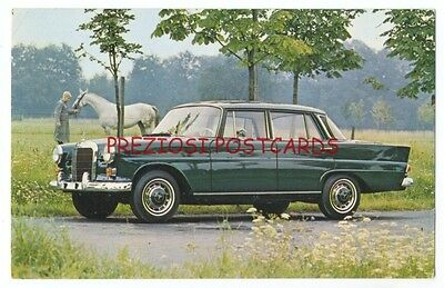 1960's MERCEDES-BENZ 230 SEDAN Original Factory Issued Ad Postcard
