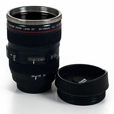 Camera Lens Travel Coffee Mug Stainless Steel Thermos Cup