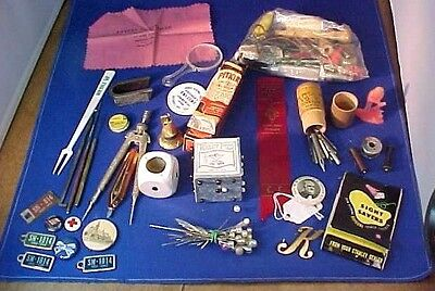 Vintage Large Lot Of Various Junk Drawer Items Antique Retro Early 1900-1970's