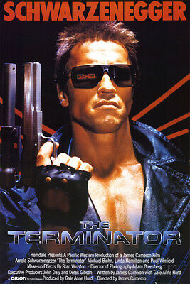 The Terminator Movie Poster 24x36 Schwarzenegger