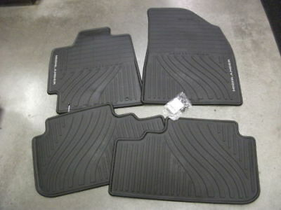 2008-2013 Highlander Floor Mats Rubber All Weather Toyota Genuine Oem Black 4Pc
