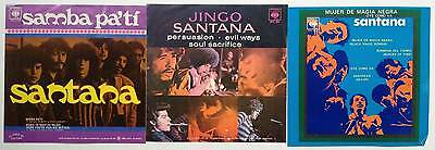 SANTANA Lot of 3 Vintage Mexican Picture Sleeves no records