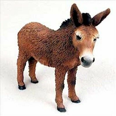 Realistic Hand Painted Cold Cast Stone Resin Red Donkey Display Figurine