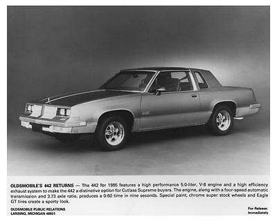 1985 Oldsmobile 442 Automobile Factory Photo ch7355