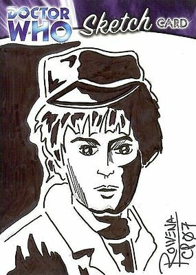 Dr Doctor Who Trilogy Sketch Card by Rowena Pararigan /1