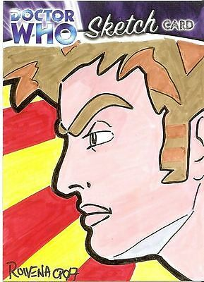 Dr Doctor Who Trilogy Sketch Card by Rowena Pararigan /2