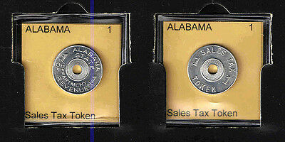 ALABAMA 1 Aluminum SALES TAX TOKEN RECEIPT    BRILLIANT UNCIRCULATED