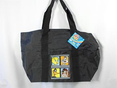 Looney Tunes Tote Bag Embroidered Bugs Bunny TAZ Tweety Daffy 20x12x6.5 NWT