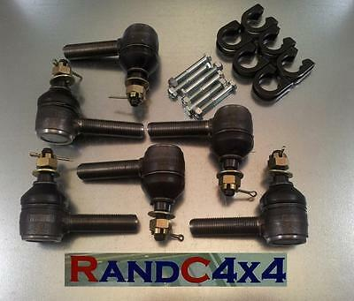 Land Rover Series 3 Steering Track Rod End Ball Joint Set with Clamps & Bolts