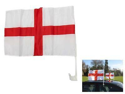 2 x England Car Window Flags St Georges Cross Car England Flag Football 2016